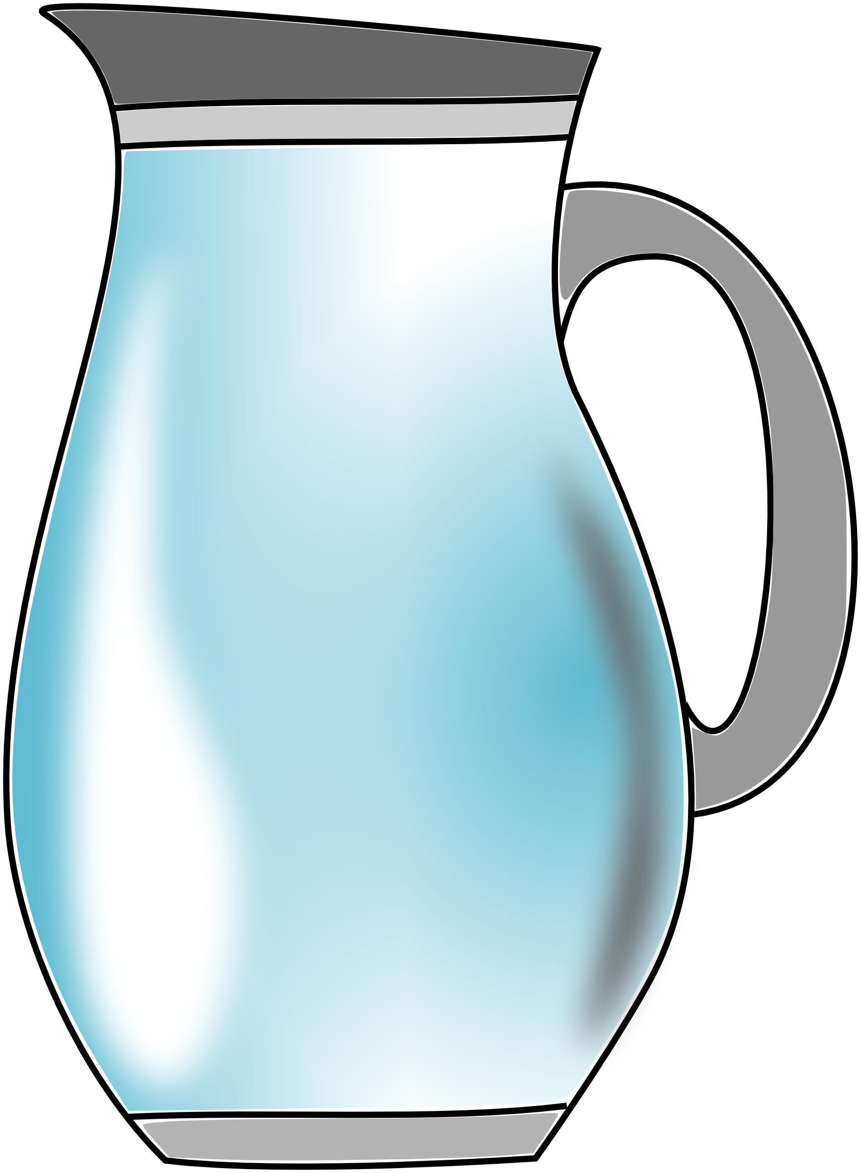 Clipart money water. Pitcher of panda free