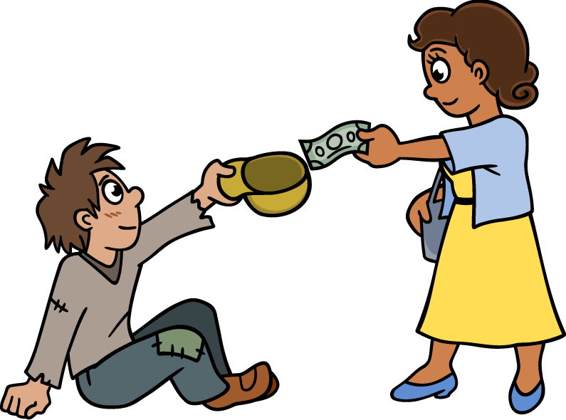 collection of giving. Poverty clipart poor city