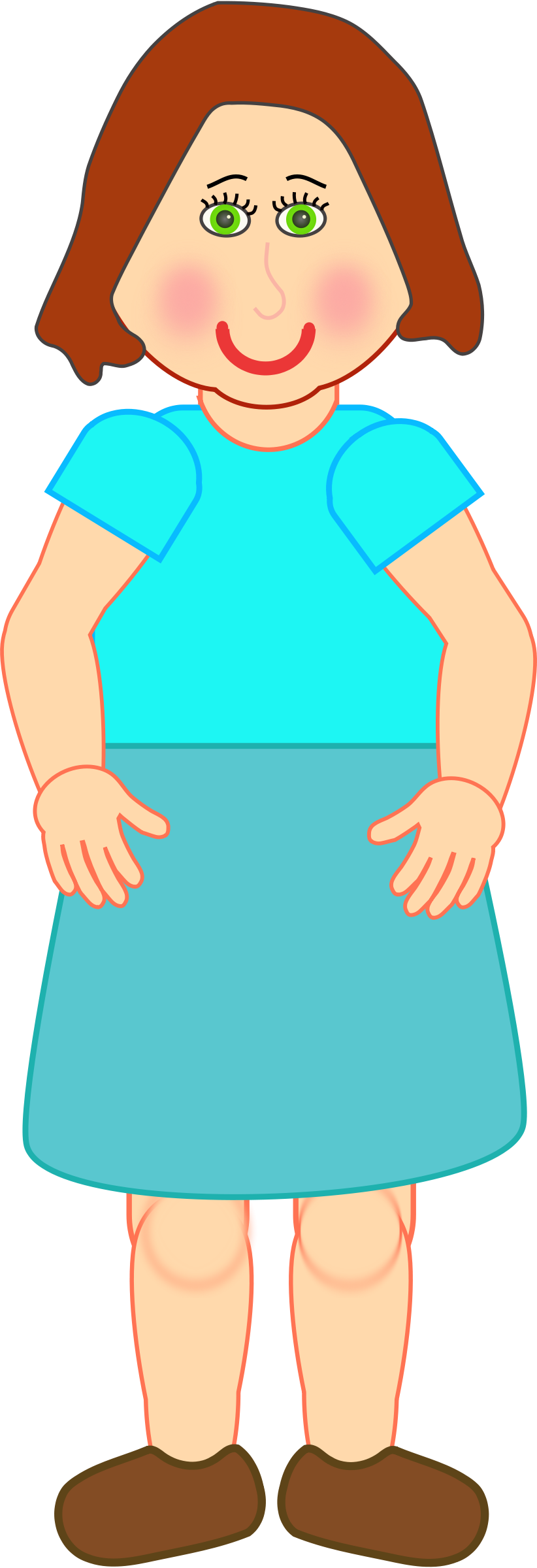 Girl clipart person. Woman standing