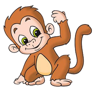 Funny baby monkey pictures. Monkeys clipart