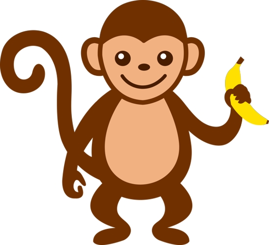 Free clip art pictures. Monkey clipart simple