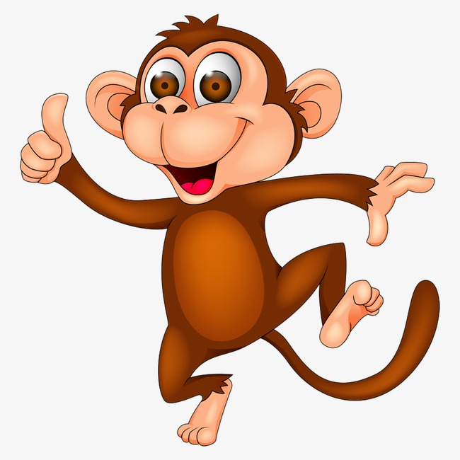 Cartoon animal png image. Clipart monkey