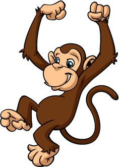 Cute cartoon monkeys clip. Animals clipart monkey