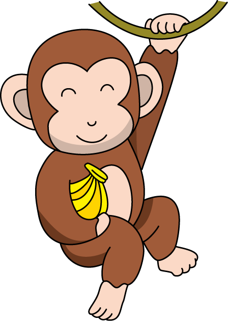 Animals clipart monkey. Free cliparts download clip