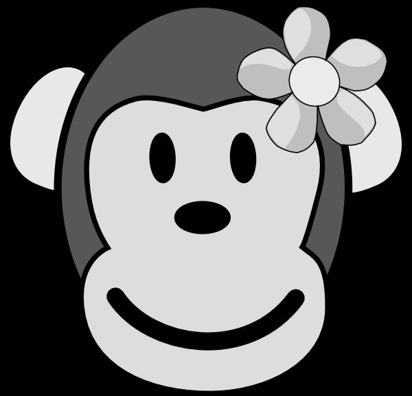Girl clipartblack com free. Clipart monkey animal