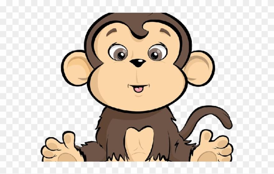 Year of the safari. Clipart monkey animal