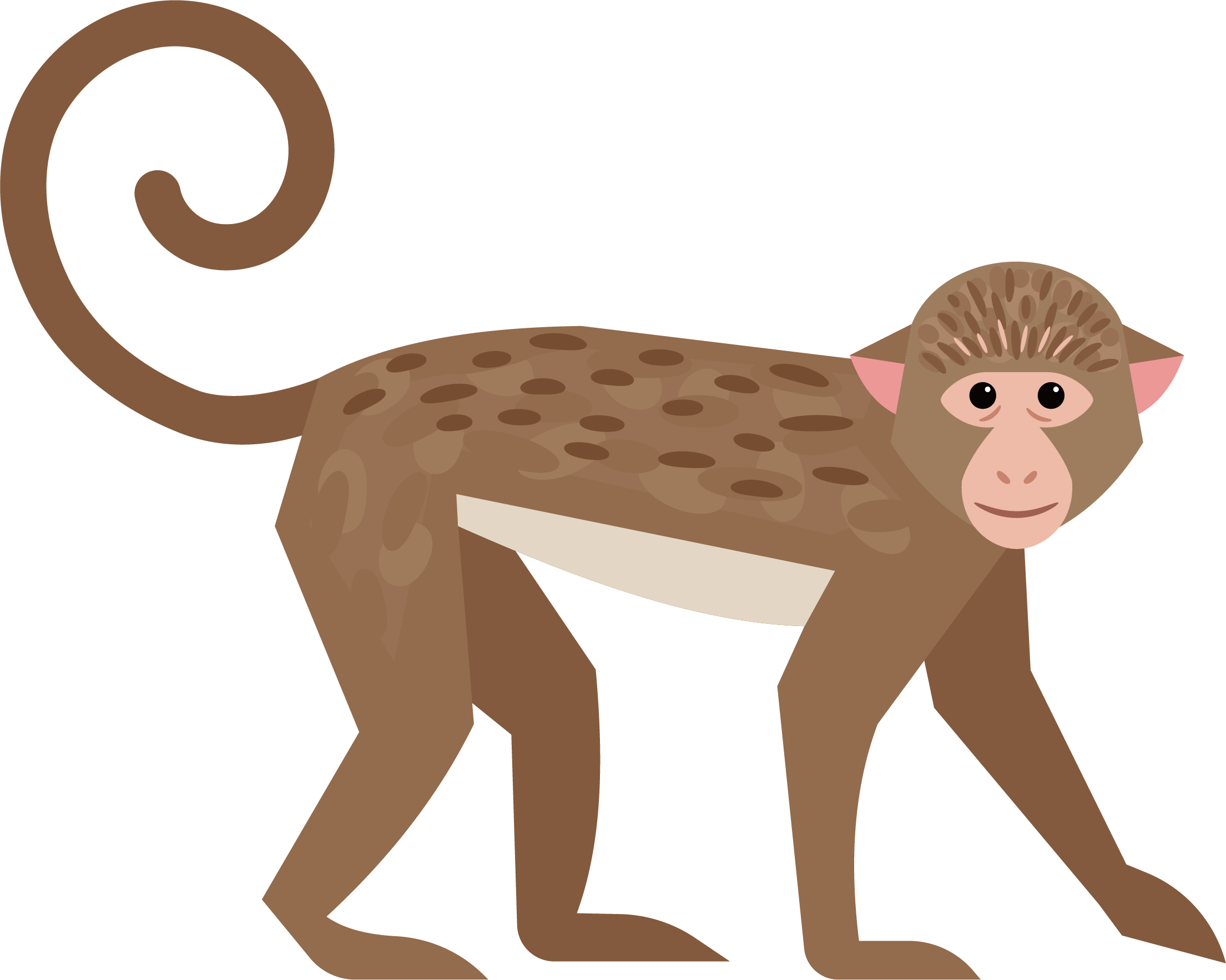 Ape cute little transprent. Monkey clipart baboon