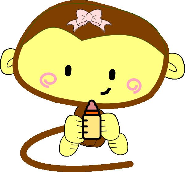 Monkey clipart baby girl. Clip art panda free