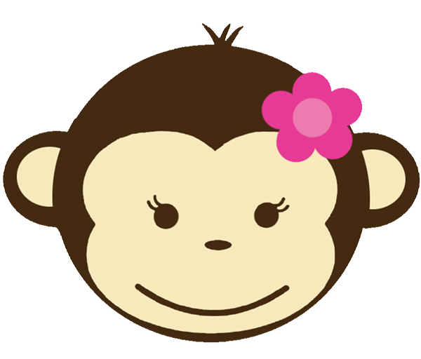 Babyface with shower invitations. Clipart monkey baby monkey