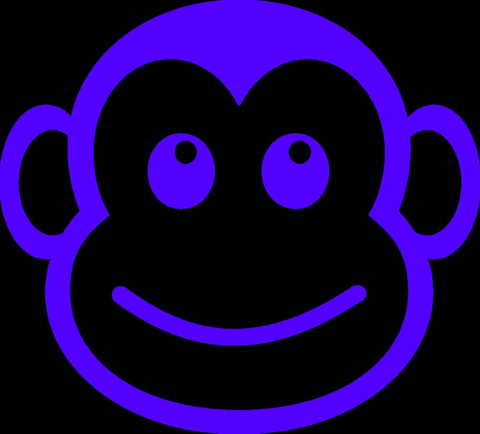 Monkey clipart simple. Public domain clip art