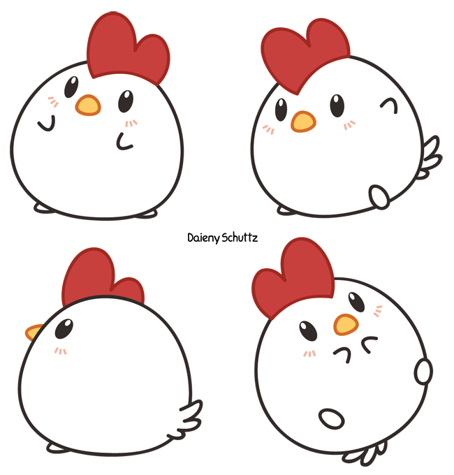 Manatee clipart chibi. Chicken by daieny on