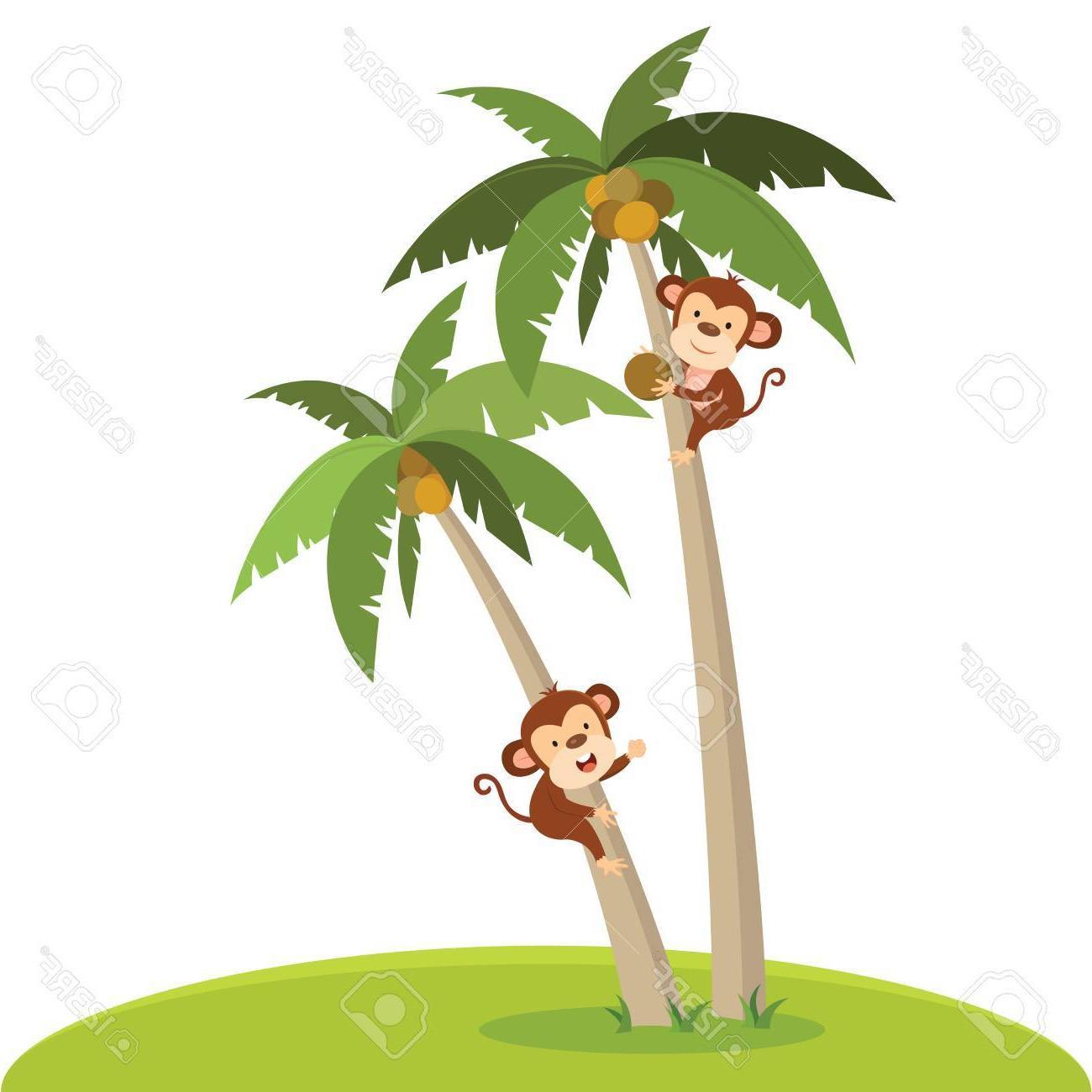 Best free in tree. Monkey clipart climb