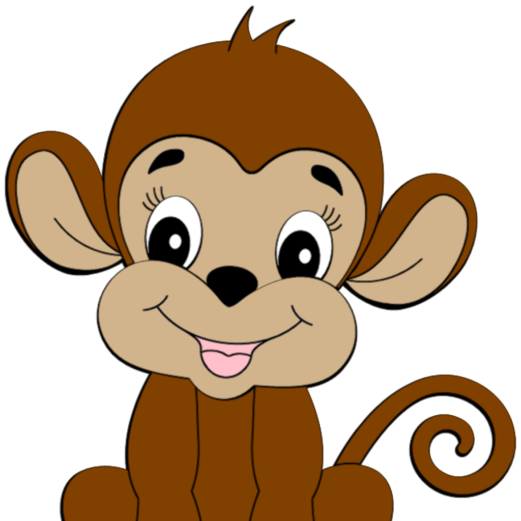 Monkey clipart number. Images computer hatenylo com