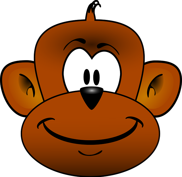 Paw clipart monkeys. Cartoon drawing for kids