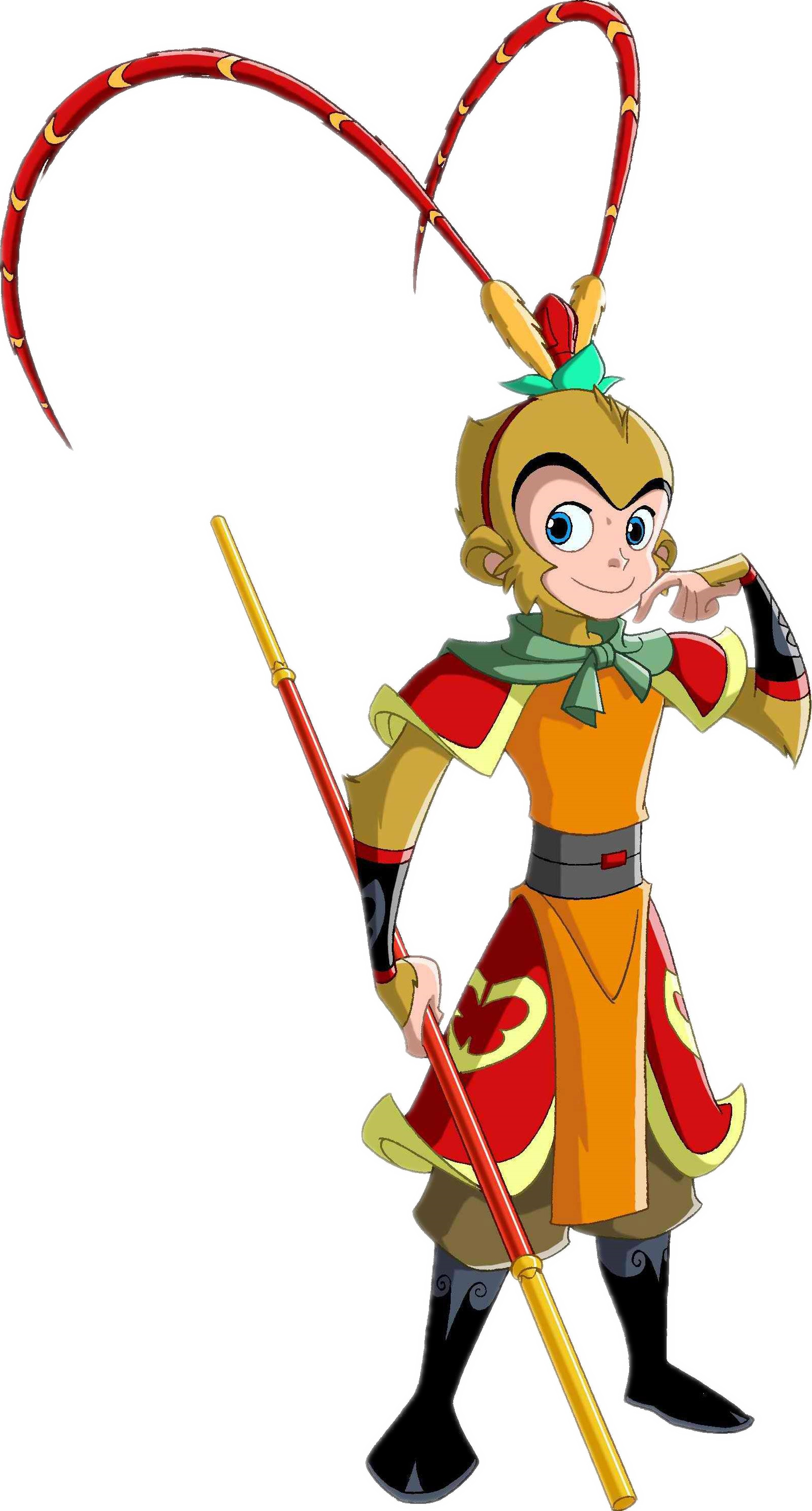 Sun wukong china journey. Costume clipart monkey