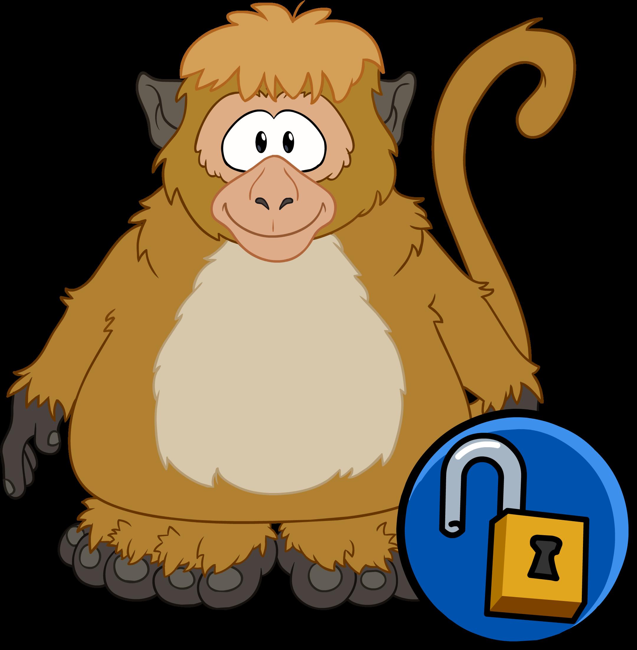 Costume clipart animal costume. Monkey club penguin wiki