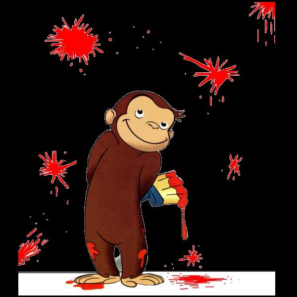 Monkeys clipart curiosity. Curious george cartoon monkey