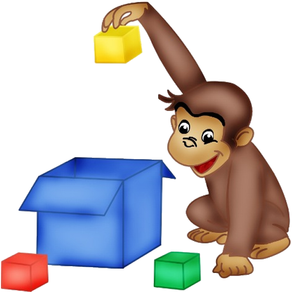 Monkeys clipart toy. Curious george cartoon monkey