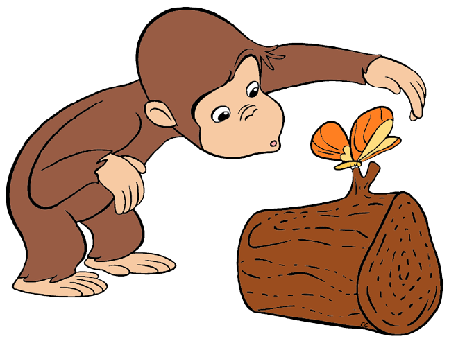 Curious george clip art. News clipart cartoon