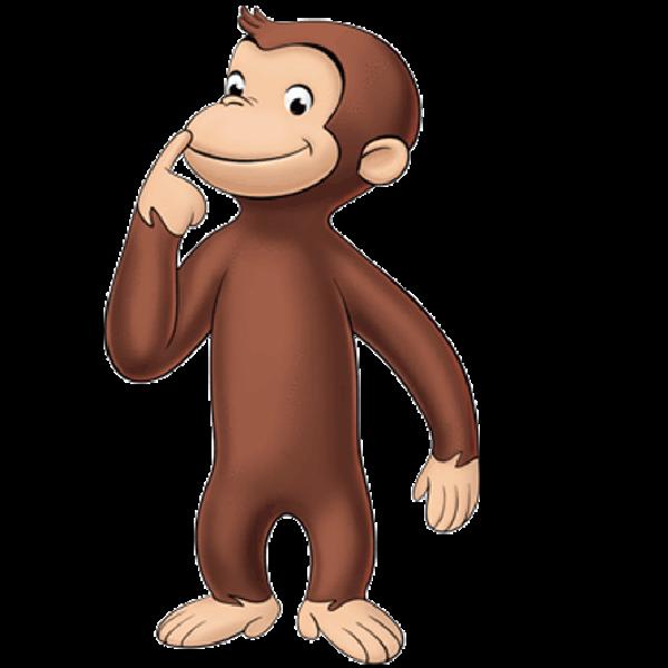 Cartoon monkey images. Monkeys clipart curious george
