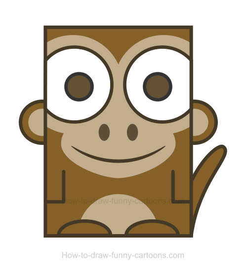 Monkey clipart simple.
