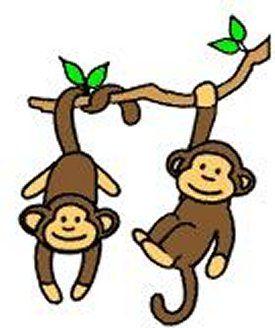 Swinging cartoon best baby. Monkey clipart simple