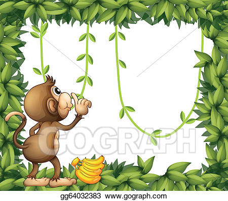 Vector art a with. Monkey clipart frame