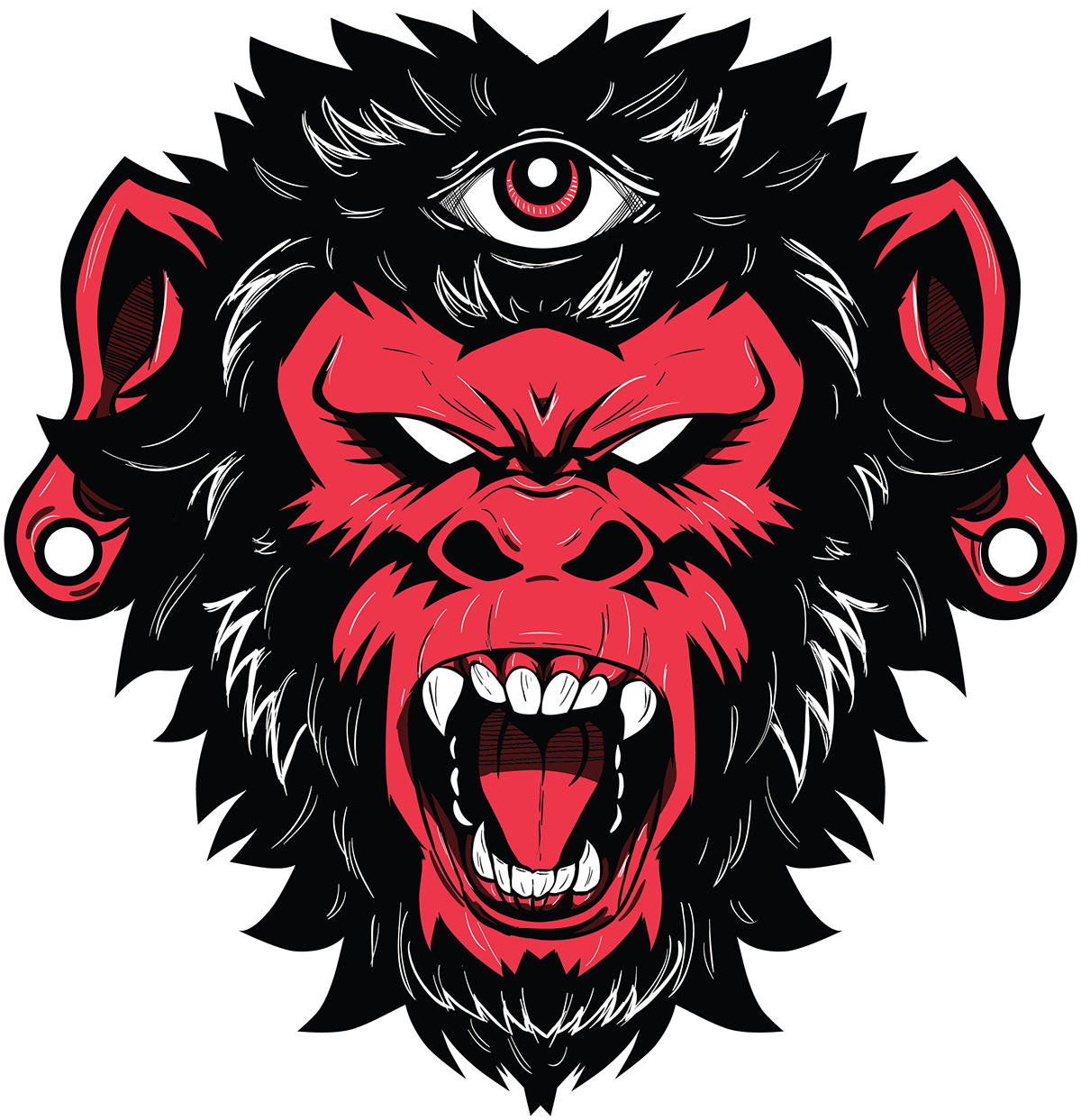 Demon Monkey vector illustration