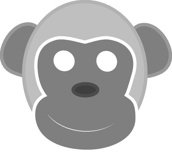 monkeys clipart grey