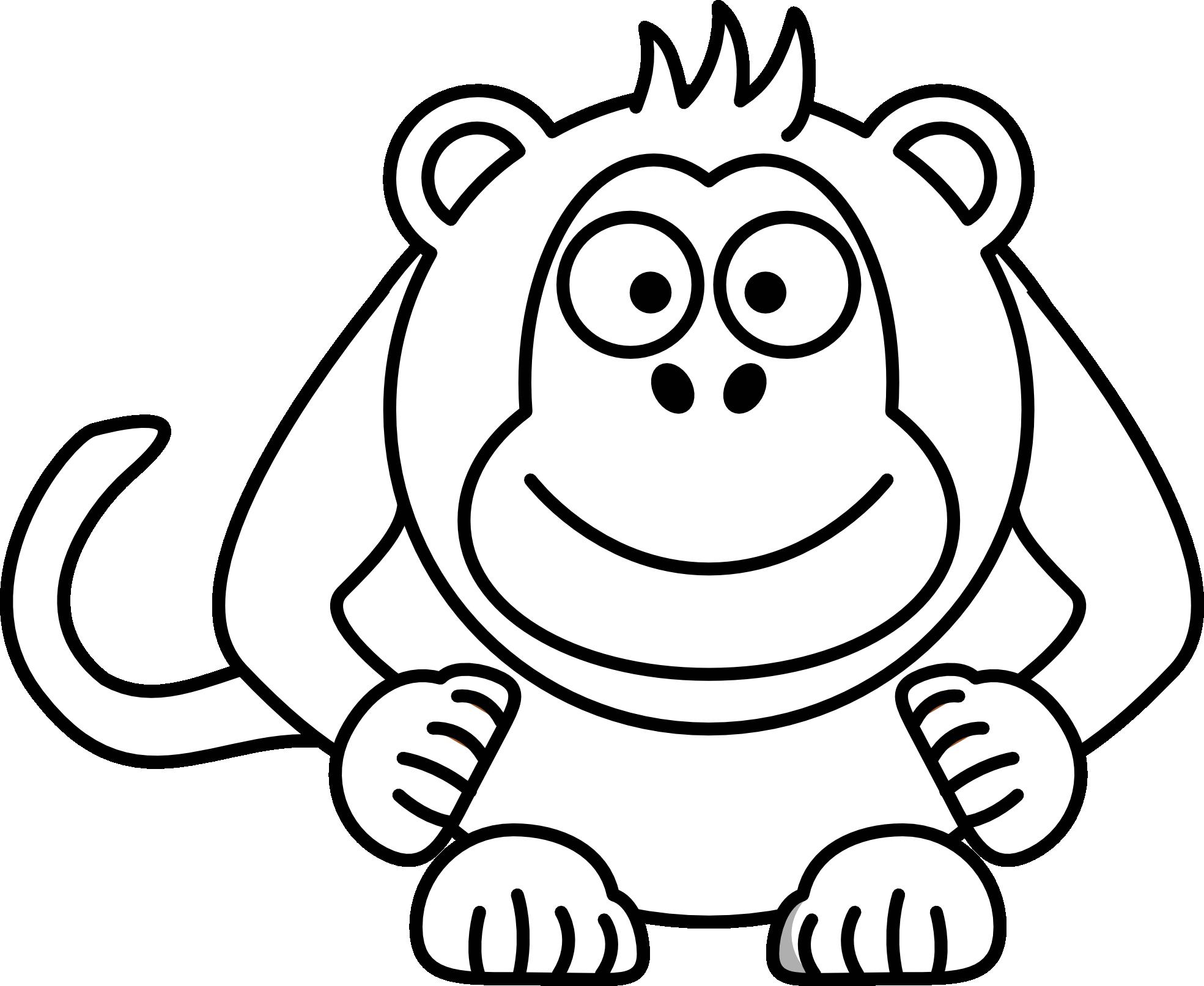 monkeys clipart sketch