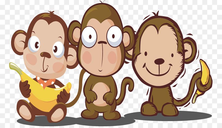 Cartoon illustration . Monkey clipart lion