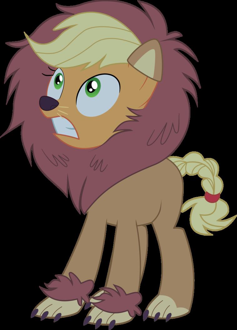 Clipart monkey lion. Applejack nightmare night by