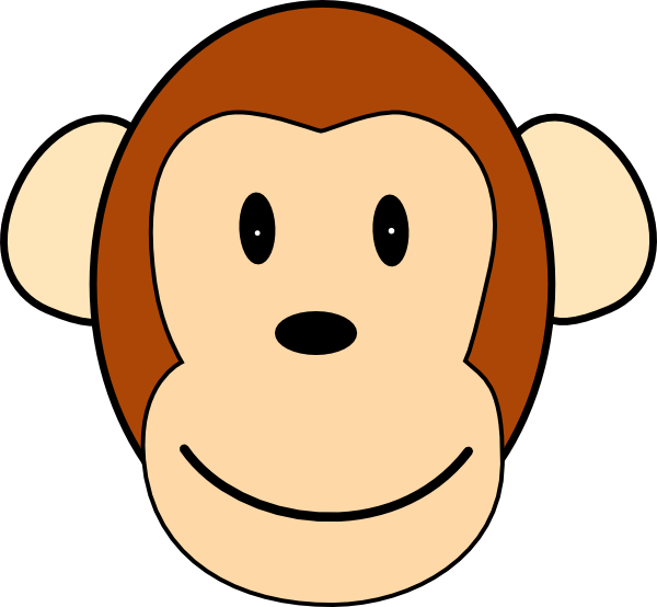 Happy face monkey clip. Clipart smile cheeky smile