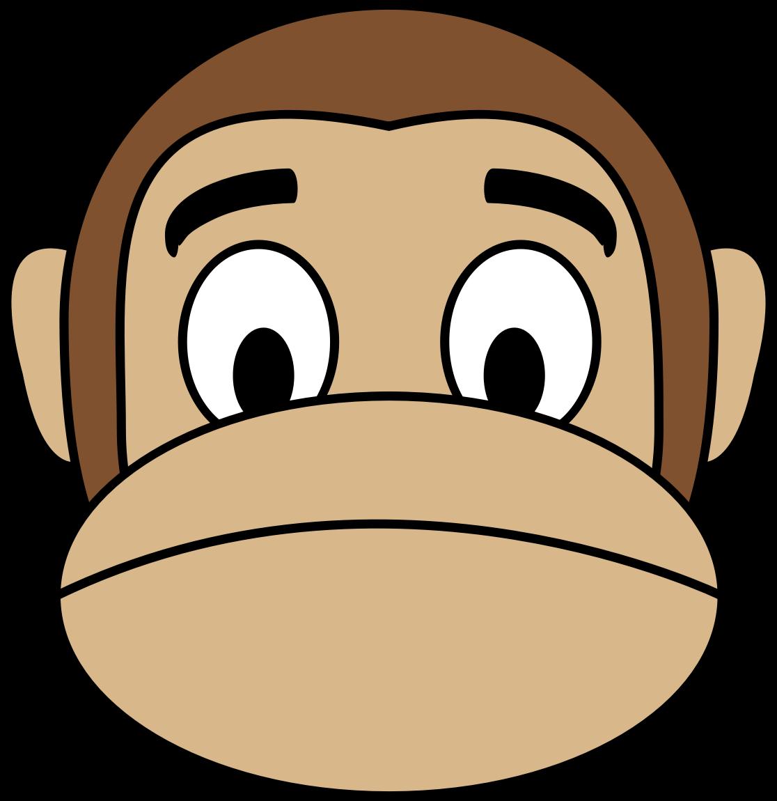 Emoji clipart sadness. Monkey sad big image
