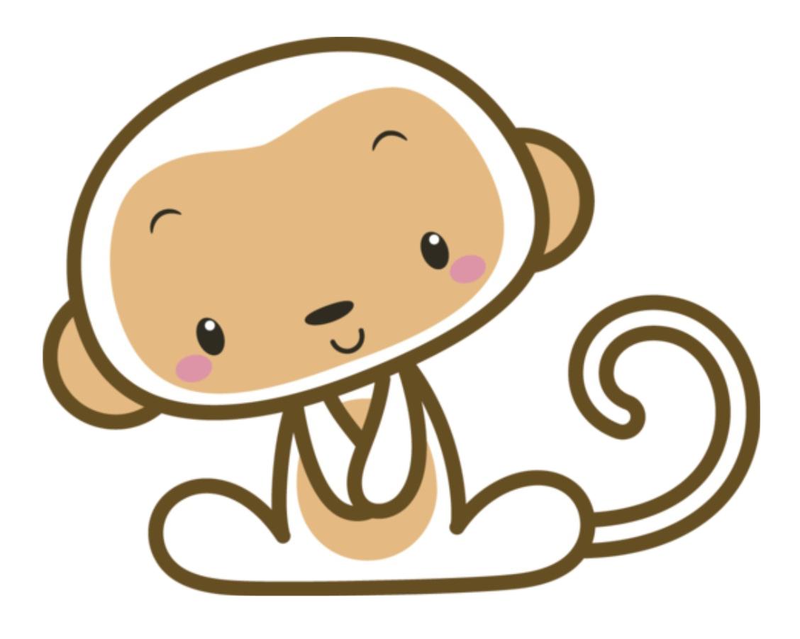 Hoho ni hao kai. Clipart monkey mokey