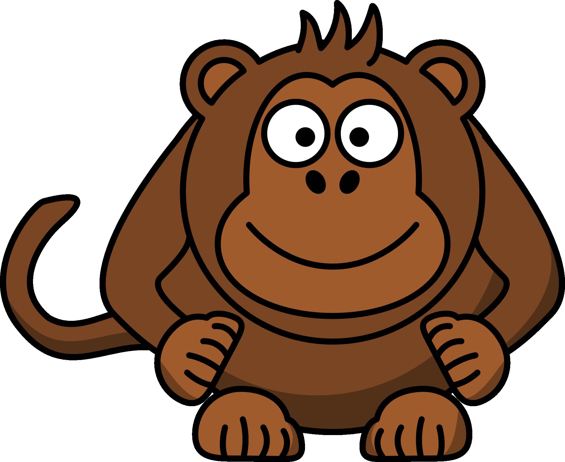Monkey cartoon panda free. Pizza clipart animated