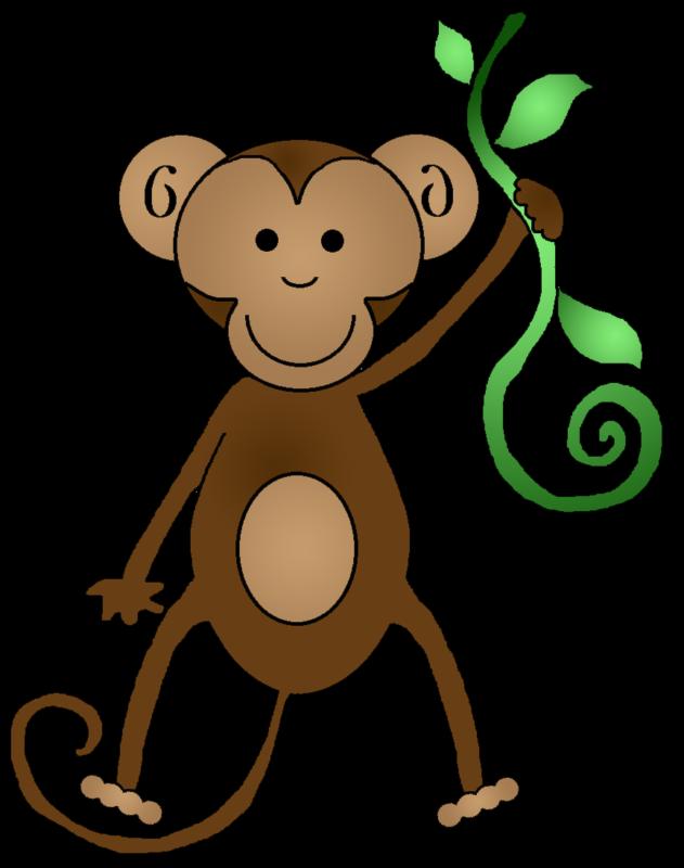 monkeys clipart black and white