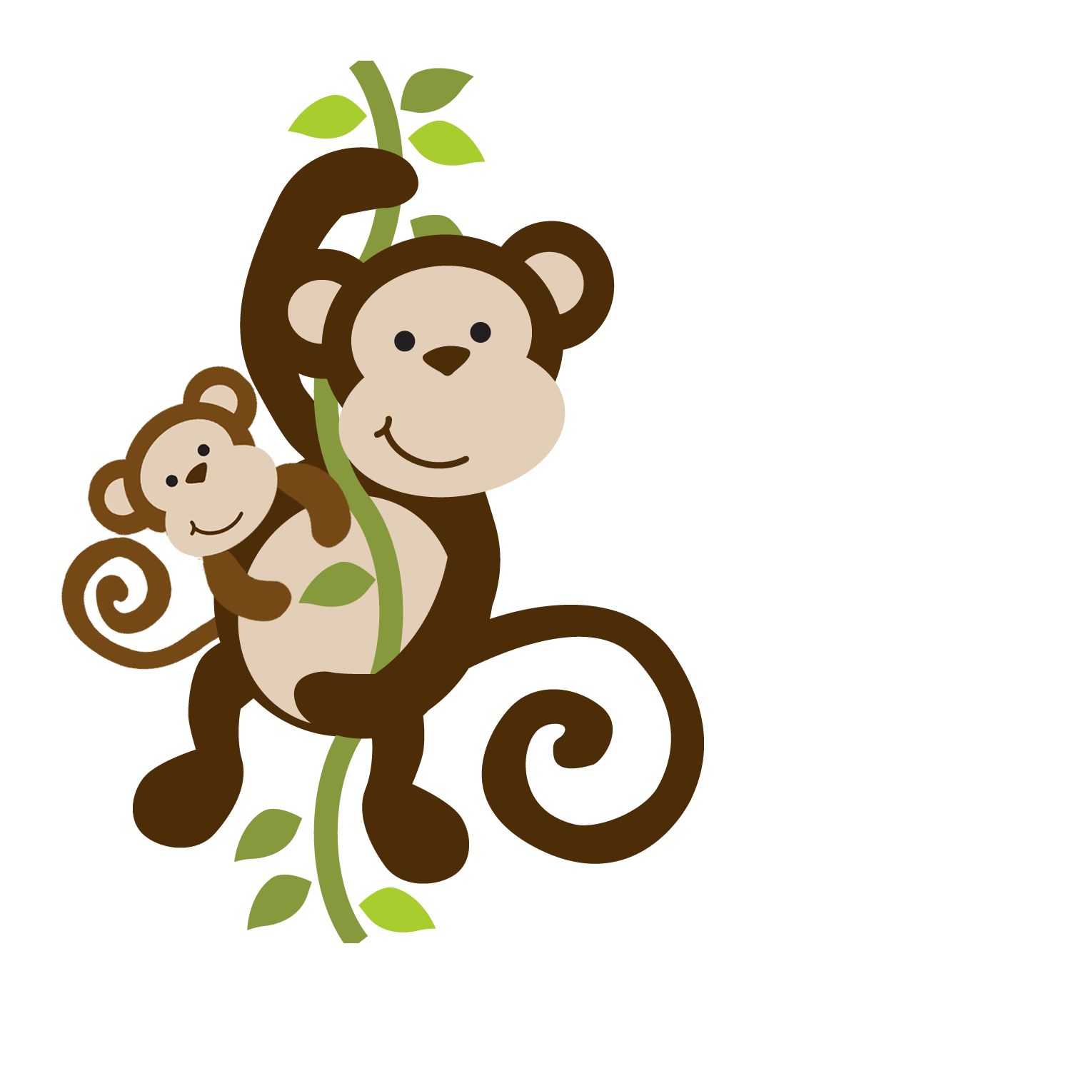 Mommy baby and in. Monkey clipart pencil