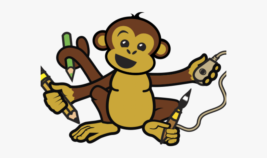 Of the day holding. Monkey clipart pencil