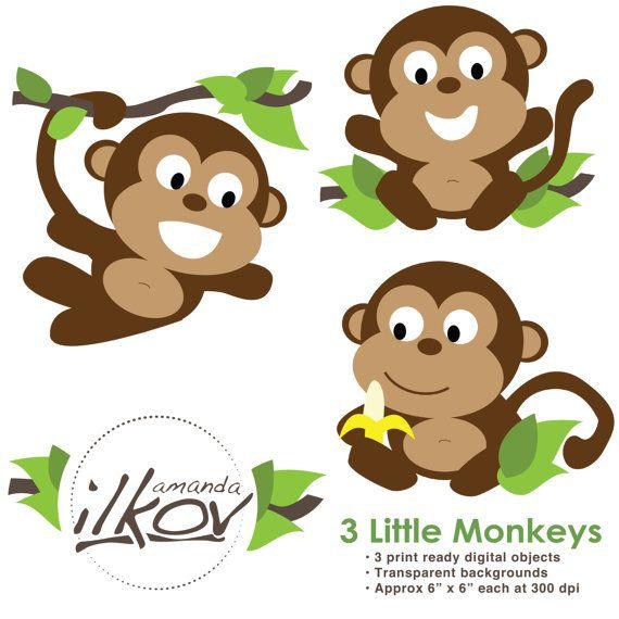 Premium for digital scrapbooking. Clipart monkey profile