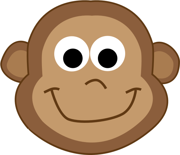 Clipart monkey profile. Smiling icons png free