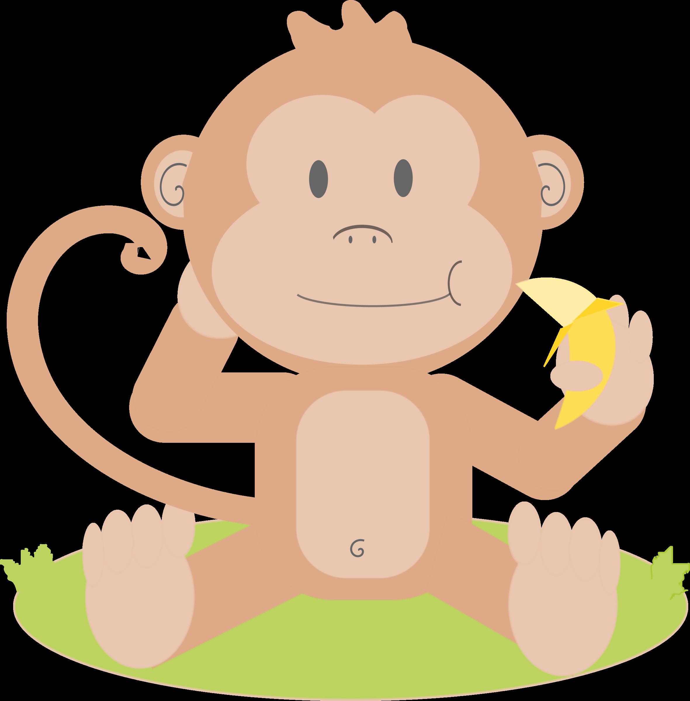 Monkeys clipart sign. Animated monkey log in