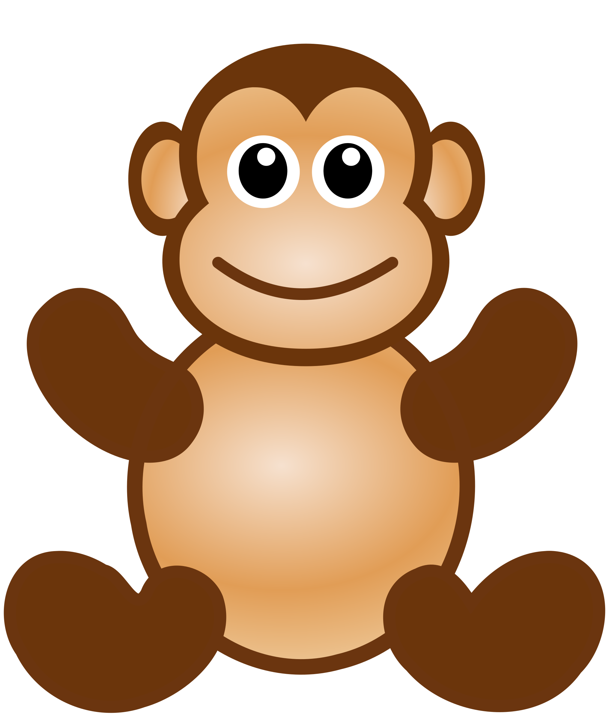 Clipart toys kawaii. Monkey toy big image
