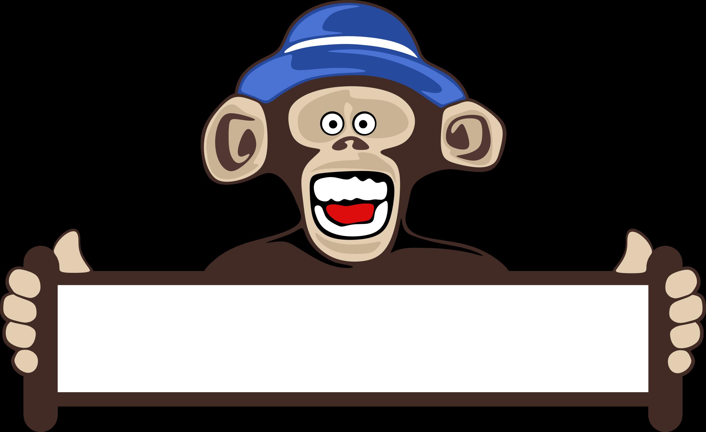 monkeys clipart sign