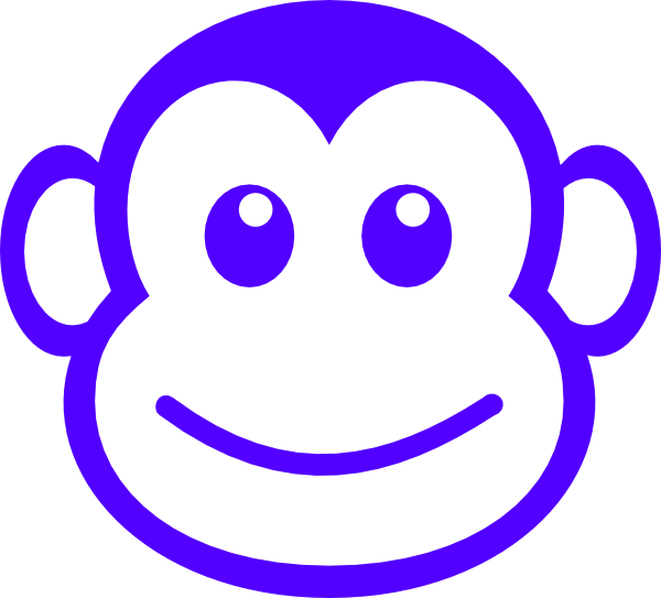 Face clip art at. Clipart monkey silhouette