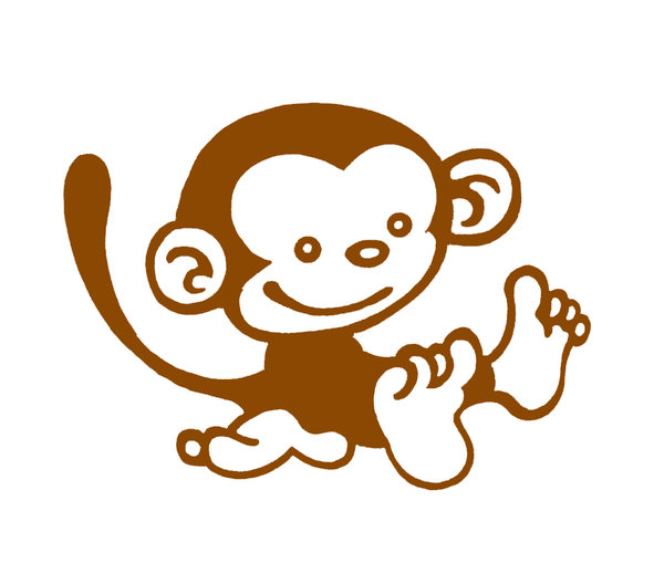 Free cute drawing download. Clipart monkey simple