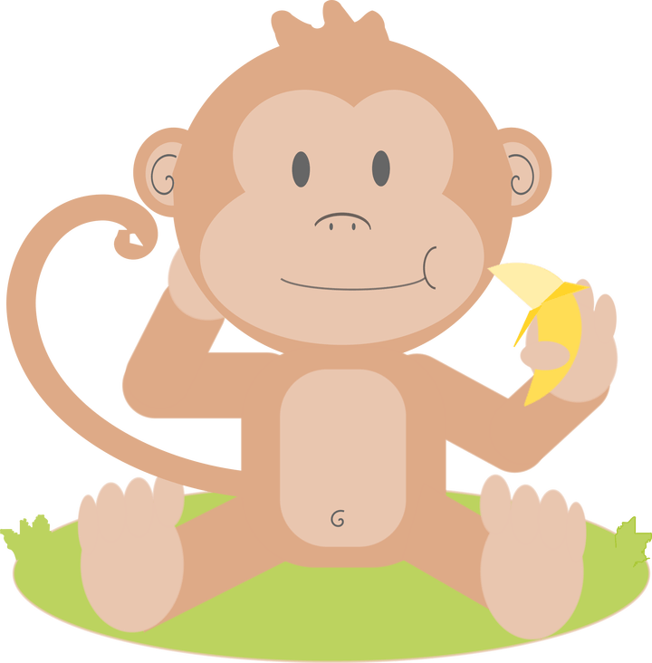 Baby animated pictures secondtofirst. Clipart monkey simple
