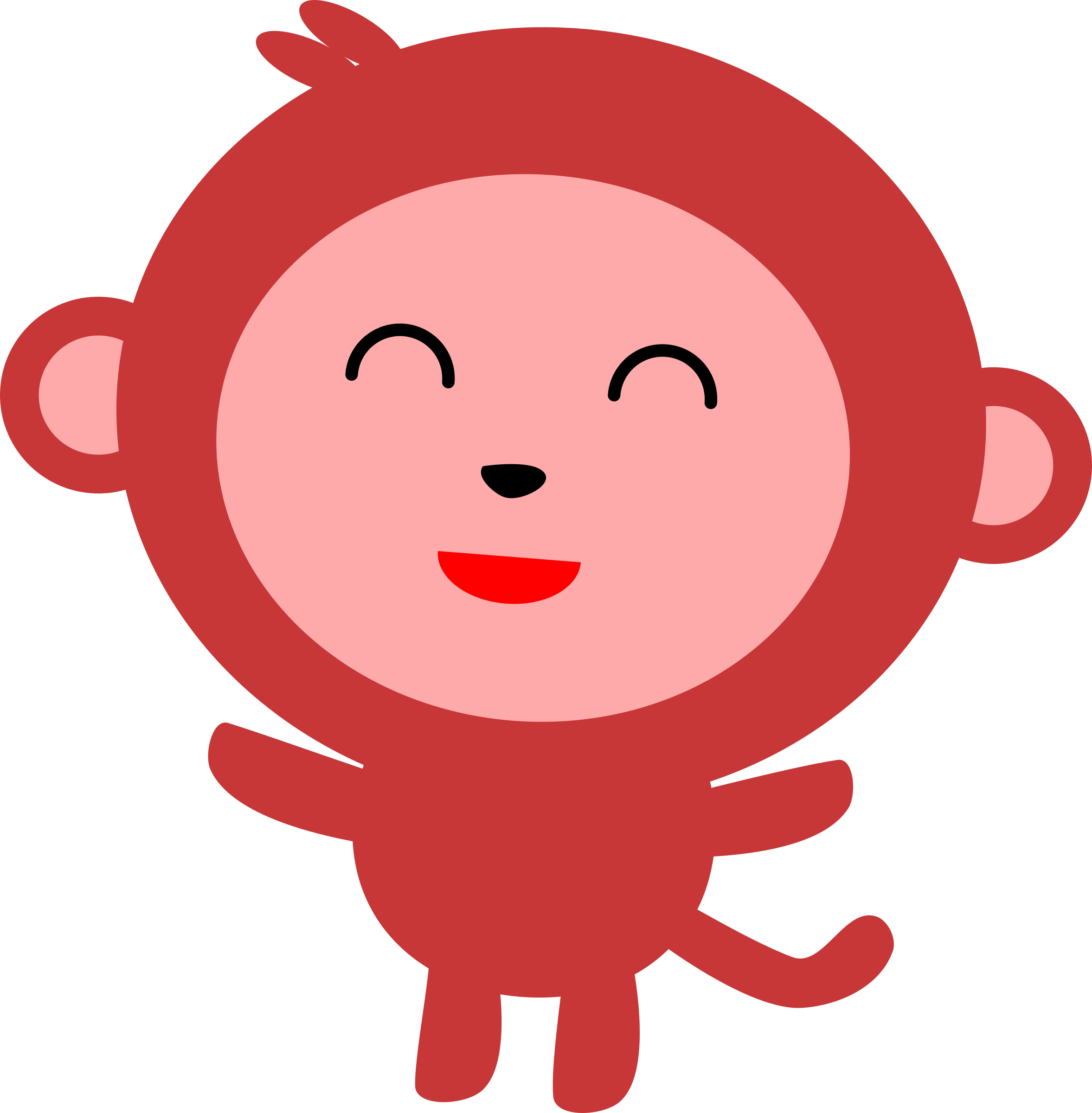 Big image png. Monkey clipart simple