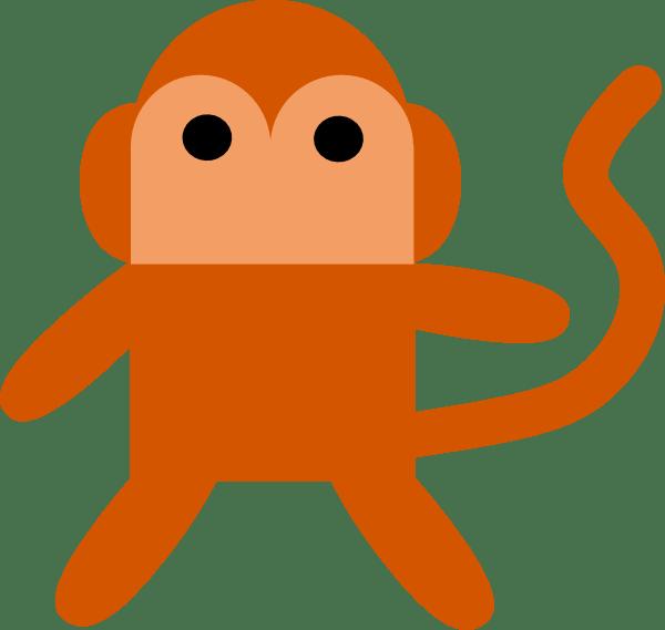 Portal . Clipart monkey simple