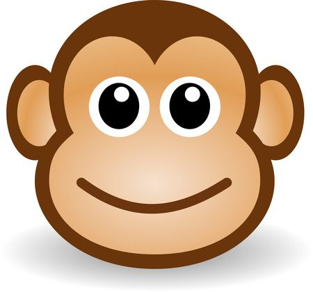 Monkey clipart pencil. Simple portal